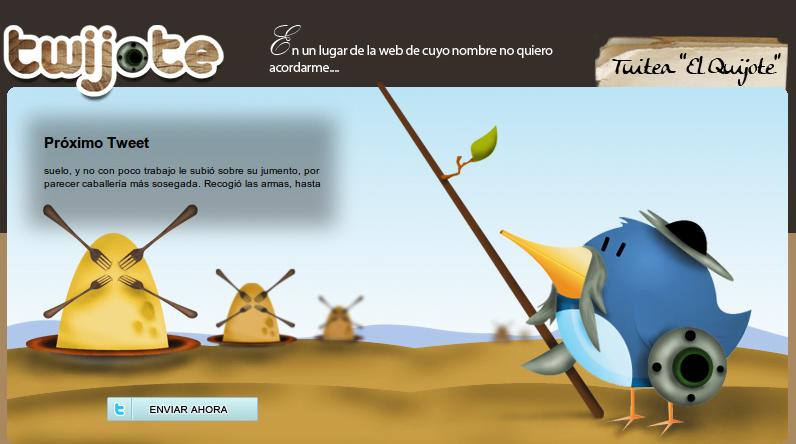 Twitter + El Quijote = Twijote [ Iniciativa Viguesa ]