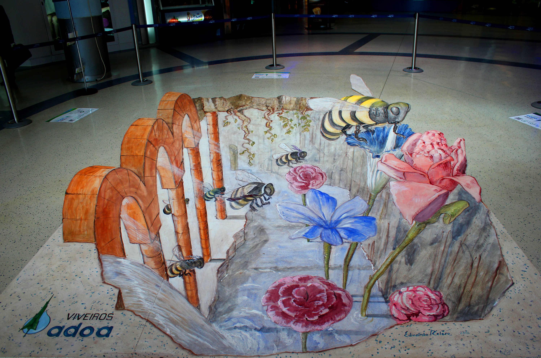 Pintura 3D Xigante no C.C. Gran Vía