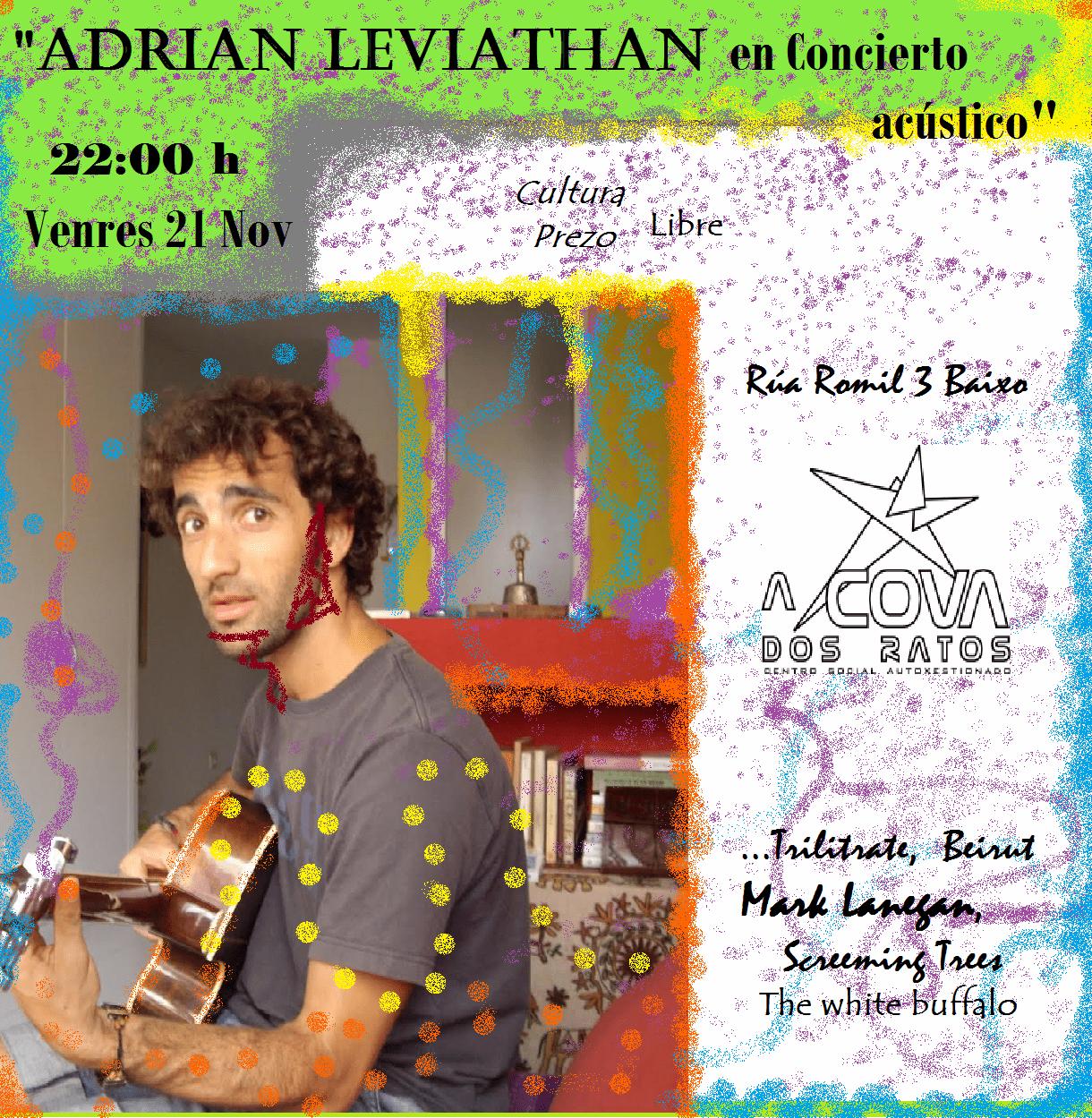 Concierto acustico de Adrián Leviathan