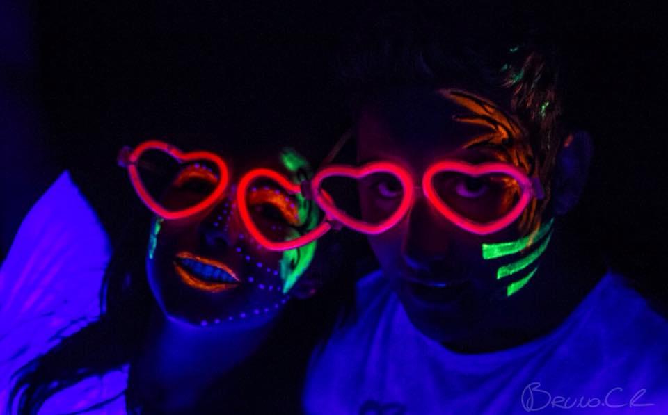 Face Paint San Valentín Neon Party