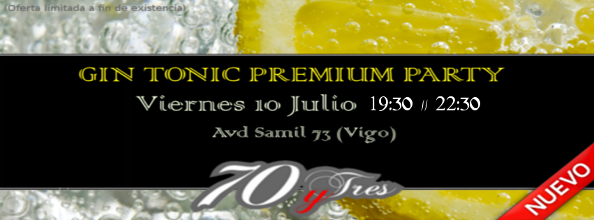 Gin Tonic Premium Party