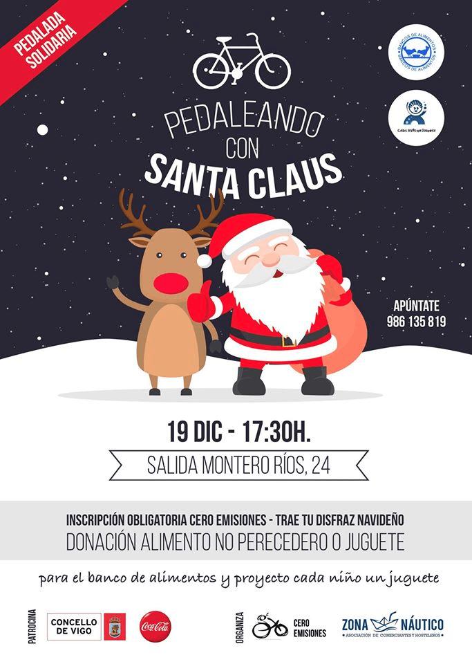 Pedaleando con Santa Claus