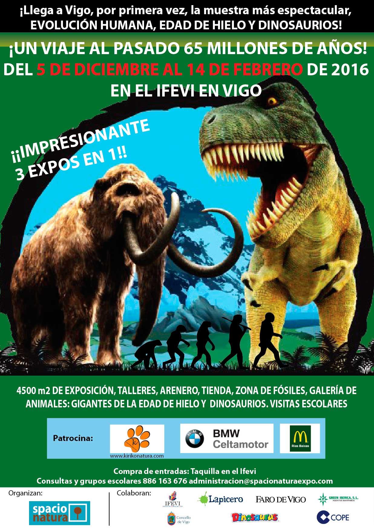 dinosaurios en el ifevi