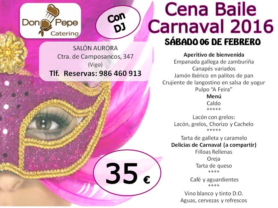 Carnaval 2016 – Cena Baile en Don Pepe
