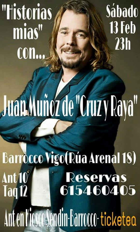 """Juan Muñoz, ex de """"Cruz y Raya"""" en Barrocco Vigo"""