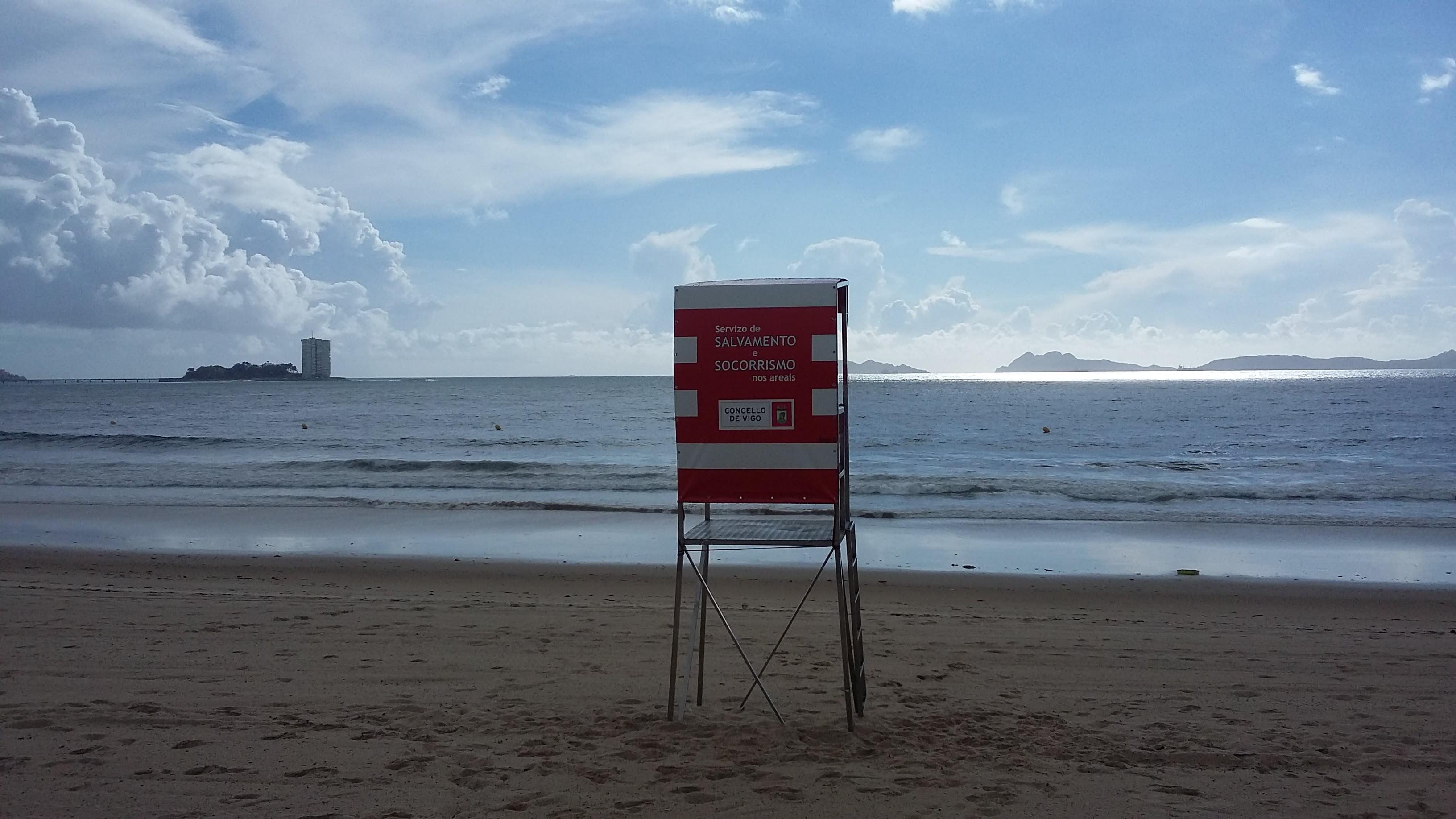 Iniciado el servicio de socorrismo y salvamento en Vigo