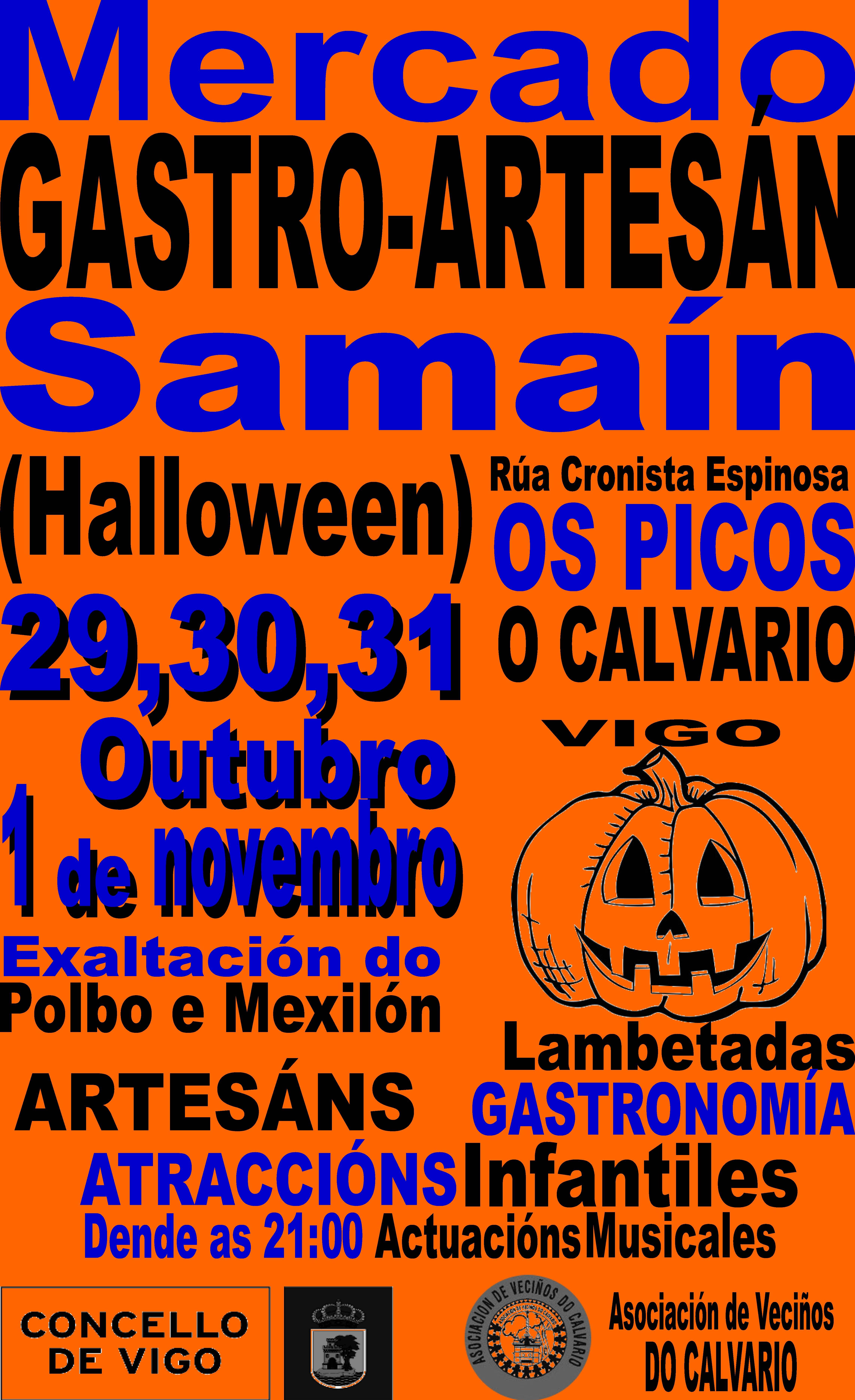 Mercado GASTRO-ARTESÁN do SAMAIN (HALLOWEEN)