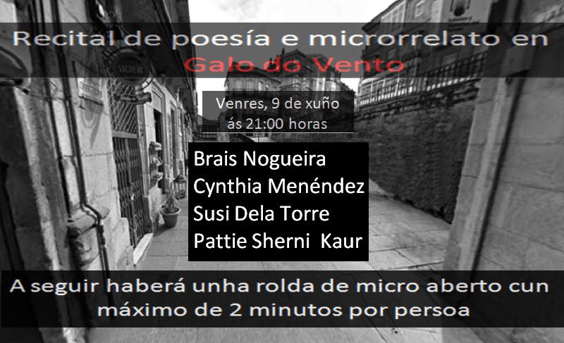 Recital de poesía e microrrelato en Vigo