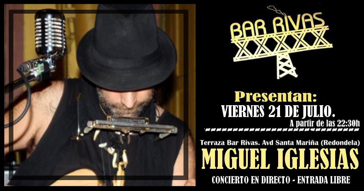 Concierto de Miguel Iglesias en Redondela