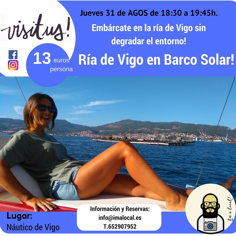 Viaje por la Ría de Vigo en Barco Solar