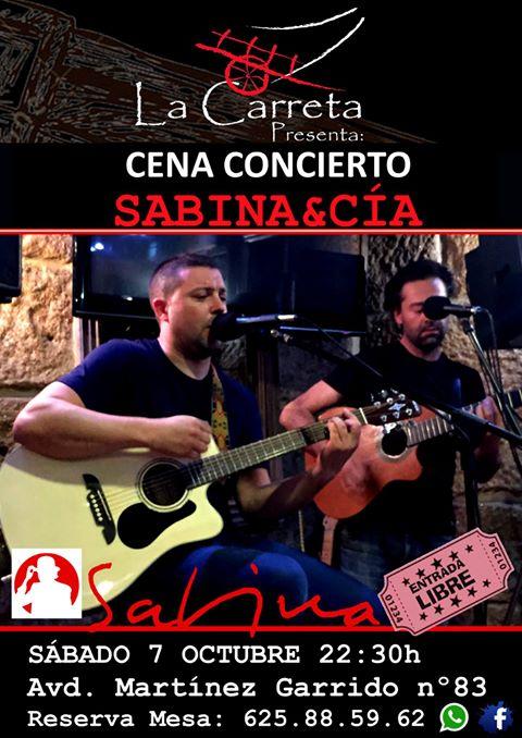 Cena Concierto con Sabina&Cía