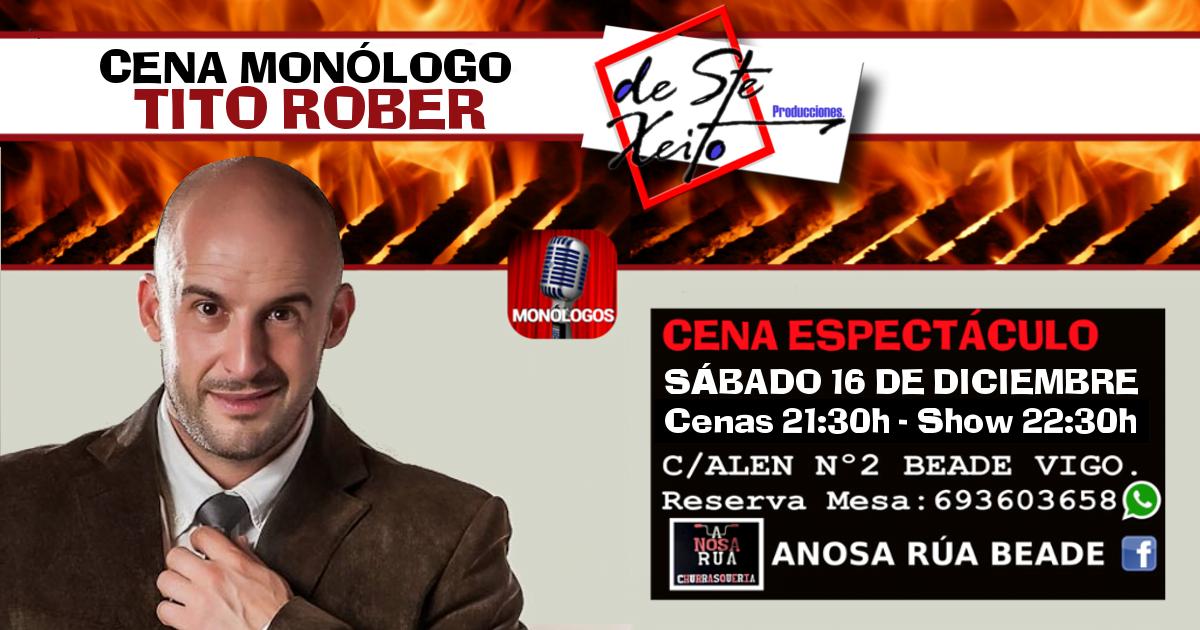 Cena Monólogo con Tito Rober