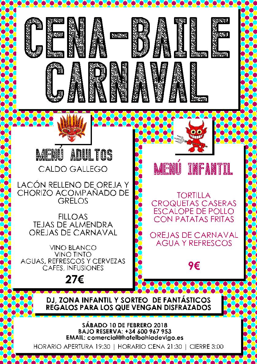 Cena Baile de Carnaval en el Hotel Bahía de Vigo