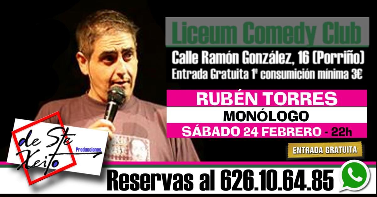 Monólogo de Rubén Torres en Porriño