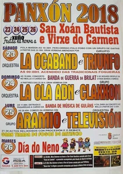 Fiestas de Panxón 2018