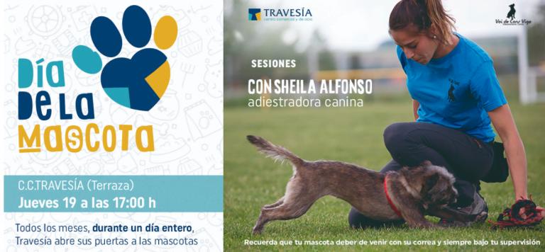 El 19 de septiembre se celebra el Día de la Mascota en el centro comercial Travesía de Vigo, con una sesión de adiestramiento con Sheila Alfonso