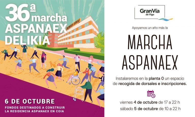 El Gran Vía de Vigo se suma a la 36ª marcha Aspanaex