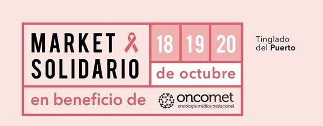 Del 18 al 20 de octubre se realizará un mercadillo solidario a favor de ONCOMET con muchas otras actividades de las cuales disfrutar