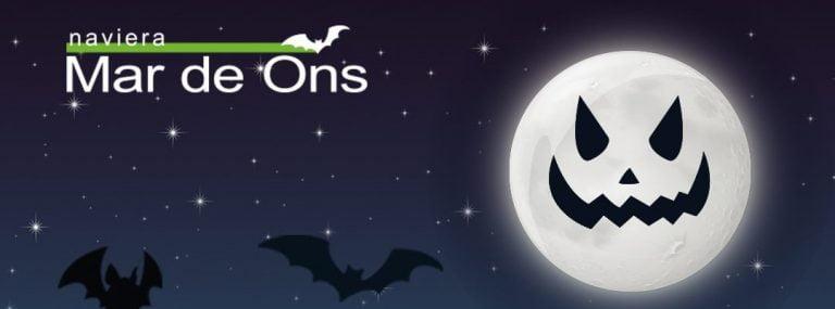 Fiesta de Halloween en el Naviera Mar de Ons el jueves 31 de octubre e incluye navegación nocturna, menú a bordo, música y sorteos para los que acudan disfrazados