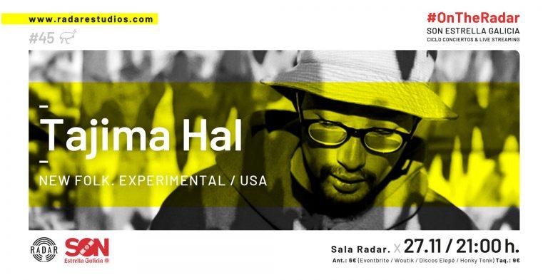 Tajima Hal en concierto el 27 de noviembre en la la Sala Radar