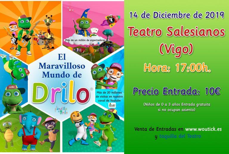 La Pandilla de Drilo actuará en el Cine Teatro Salesianos en Vigo, el 14 de diciembre