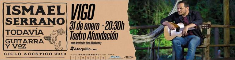 El 31 de enero, en Teatro Afundación de Vigo, disfruta del concierto de Ismael Serrano