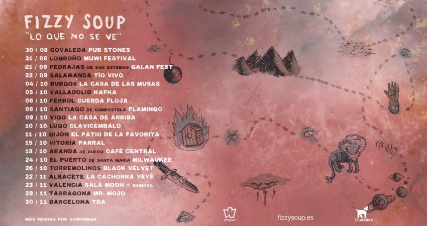 Fizzy Soup actuará mañana miércoles 9 de octubre en La Casa de Arriba, Vigo