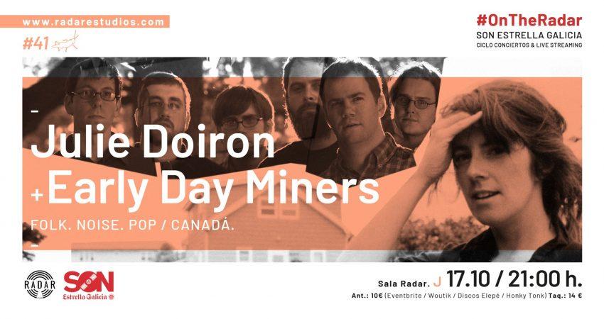 Julie Doiron + Early Day Miners actuarán en la sala Radar Estudios el 17 de octubre a las 21:00