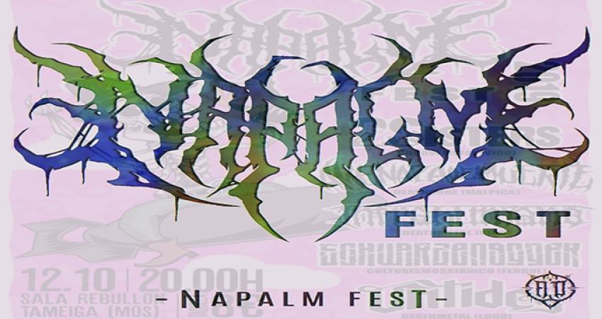 Segunda edición del Napalm Fest el 12 de octubre en la Sala Rebullón, Tameiga-Mos