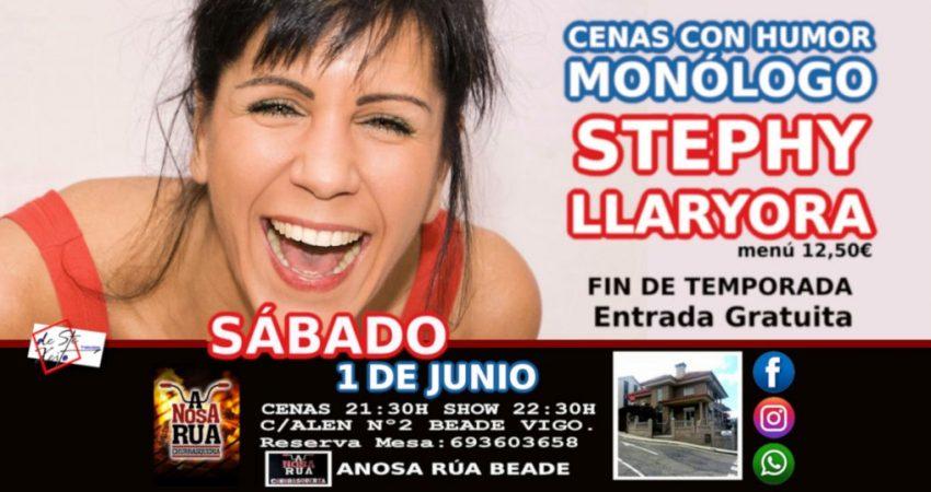 Stephy Llaryora actuará en la Churrasqueria A Nosa Rúa de Beade a las 22:30 horas